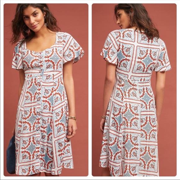 47afb4073a52 Anthropologie Dresses & Skirts - New Anthropologie Maeve Praslin Printed  Dress 6